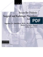 Access for Dialysis - Surgical and Radiologic Procedures