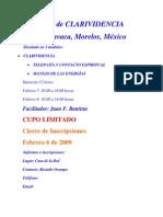 Temario Del Seminario de CLARIVIDENCIA