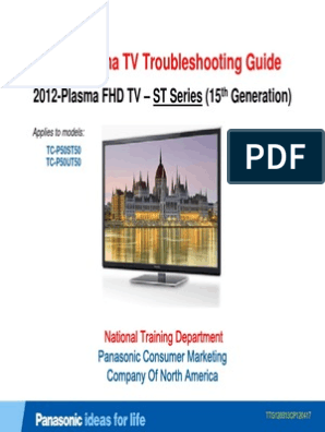 Panasonic 2012 PDP Troubleshooting Guide ST50 ST Series [TM