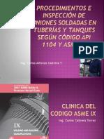 Soldadura Uso Codigos Nomas API 1104 ASME IX Parte 6