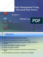 DBMS with SQL Server (Session 1)