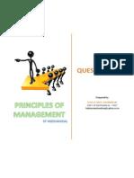 Principles of Management - Question Bank