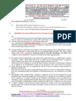 20140604-G. H .Schorel-Hlavka O.W.B. to Premier D Napthine-Re Geoff Shaw MP-etc