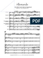 Bach Allemande Score