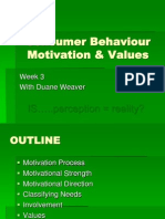 Marketing 260 Consumer Behaviour Motivation and Values-week3 Lecture