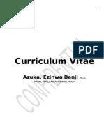 CV - Dr. Ezinwa B. Azuka