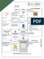 june 2014 calendar and newsletter