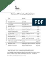 PPE Price List