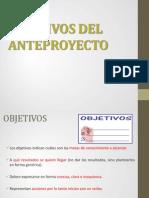 Objetivos Del Anteproyecto en PDF