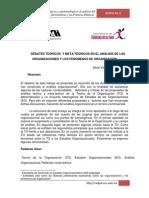 Debatesteoricos Metateoricos Analisis Organizaciones Fenomenos Org