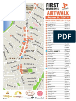 JP Centre South Artwalk Map June 2014