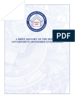 History of the Government Sponsored Enterprises