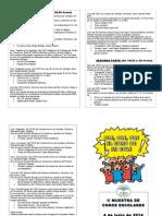 Programa II Muestra de Coros Escolares