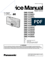 Panasonic Lumix DMC-FX30P Serice Manual