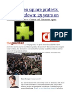 Tiananmen Square Protests and Crackdown 25 Years On