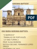 TRABALHO DE PORTUGUES - BARROCO