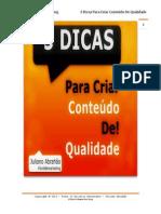 5 Dicas Para Criar Conteudo de Qualidade 130605175125 Phpapp02