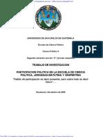 Trabajo de Investigación- Sobre la Participación Política en la ECP- Jornadas Matutina y Vespertina