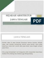 Sejarah Arsitektur jawa tengah