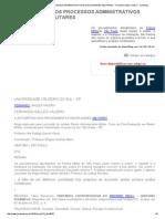 A Autodefesa Nos Processos Administrativos Disciplinares Militares - Fernando Salles Valério - Jurisway