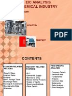 """EIC Analysis of """"CHEMICAL INDUSTRY"""""""
