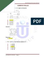 Tarea Unidad II Numeros Reales Matematica Basica