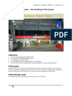 Reliance Fresh - The Building of the Brand