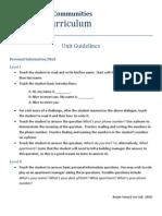 Curriculum Guidelines