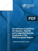 e93035-2013Surveillance guidelines for measles, rubella and congenital rubella syndrome in the WHO European Region, update December 2012