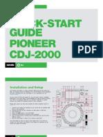 Pioneer CDJ-2000 Quickstart Guide for Serato DJ