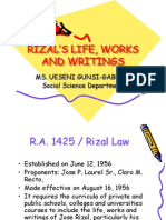 Rizal's Life, Works and Writings