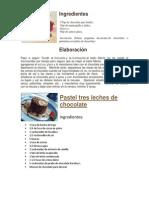 Recetas Postres Con Chocolate