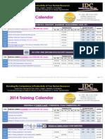 IDC Training Calendar 2014