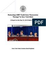 """Sen. Hoylman report on dangers of """"conversion therapy."""""""