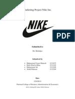 Marketing Project Nike Inc