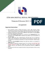Etm 4096 Digital Signal Processing-1