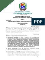 12. Ley Orgánica Contra La Delincuencia Organizada