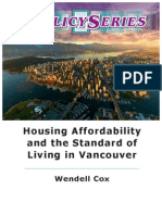 Housing affordability and the standard of living in Vancouver