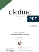 presentación_Revista Cleome_ Ana Gómez