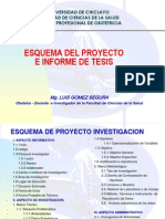 Esquema de Proyecto e Informe de Investigacion
