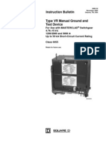 Circuit Breaker - Ground & Test Device Type VR Manual Ground and Test Device