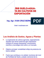 Analisis Suelo-Agua-planta en Exportacion-Ing Ivan Cruz