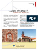 Bastelbogen Kirche Mellnsdorf