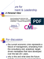 The Future for Management & Leadership