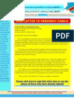Open Letter to President Kabila