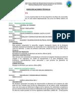 Especificaciones Técnicas LOSA DEPORTIVA