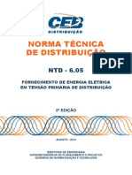 NTD-6.05-CEB - NORMA TÉCNICA DE DISTRIBUIÇÃO.