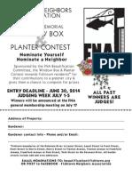 2014 Eva Rubin Memorial Window Box and Planter Contest