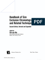 Handbook of Size Exclusion Chromatography