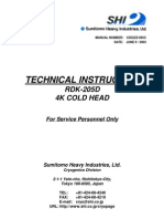 Cryocooler Technical Instruction, RDK-205D